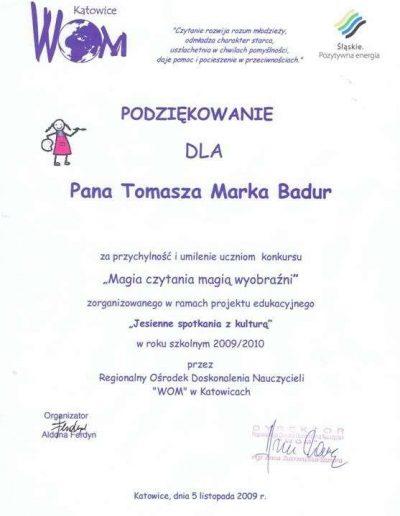 Podziękowanie - WOM Katowice
