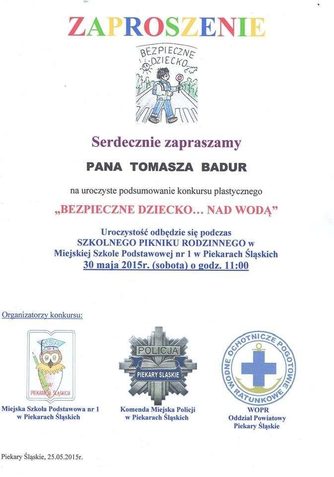 Zaproszenie Szkoła nr 1
