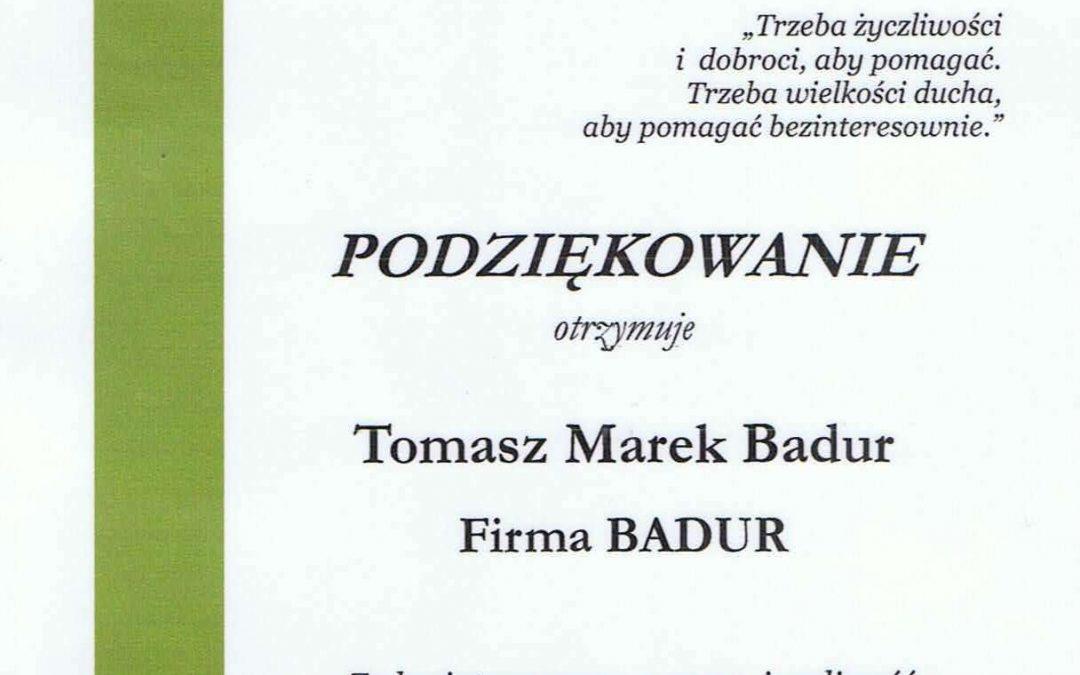 Podziękowanie od MSP nr 1 w Piekarach Śląskich
