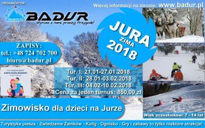 Zimowisko dla dzieci JURA 2018