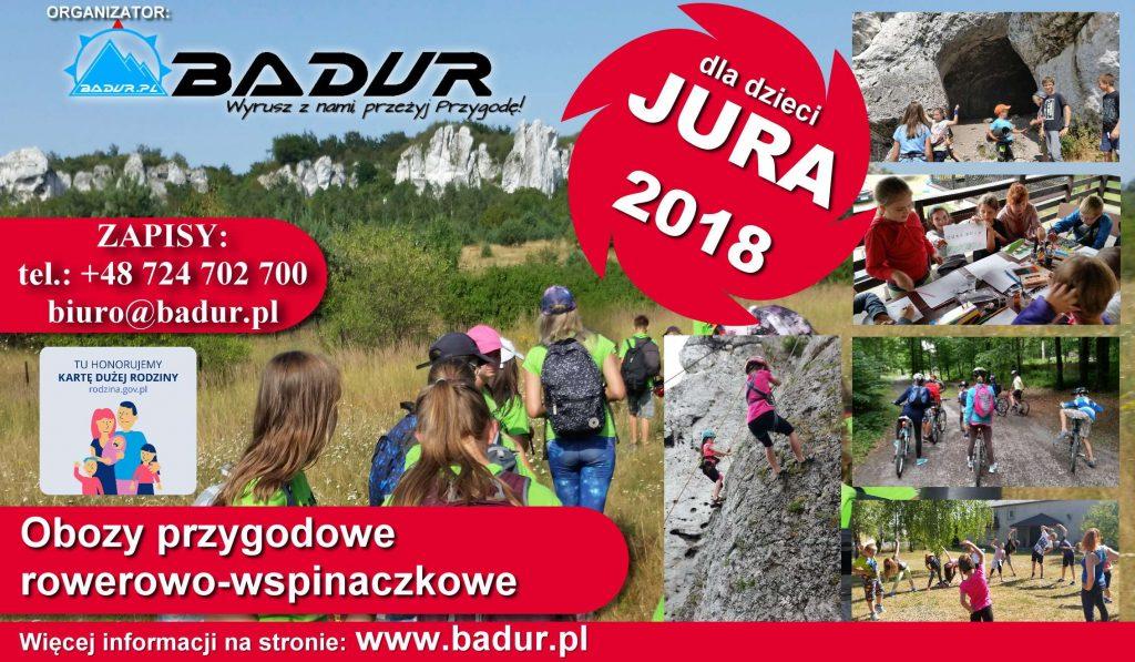 Obóz przygodowy dla dzieci JURA 2018 Turnus IV