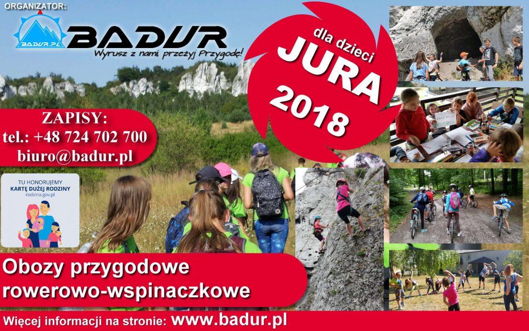 Obóz przygodowy dla dzieci JURA 2018 Turnus V