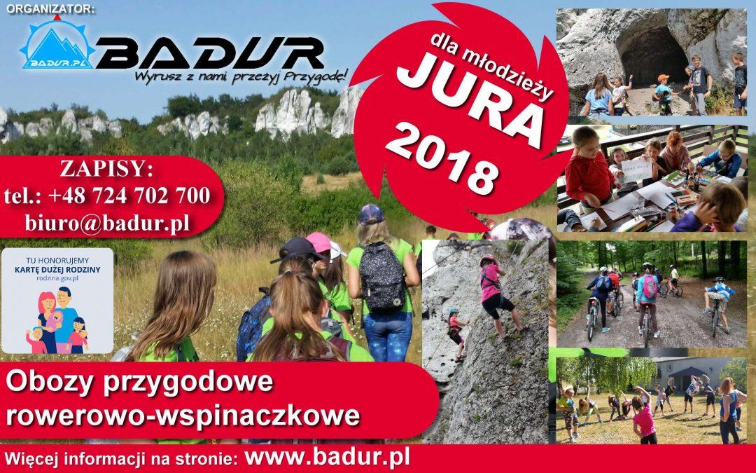 Obóz przygodowy dla młodzieży JURA 2018 Turnus I