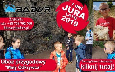 """Obóz przygodowy JURA 2019 """"Młody Odkrywca"""""""