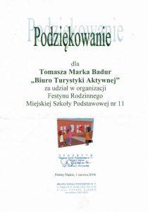 Podziękowanie odMSP nr11 wPiekarach Śląskich