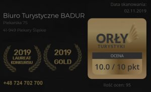 Laureat Konkursu - Orły Turystyki 2019